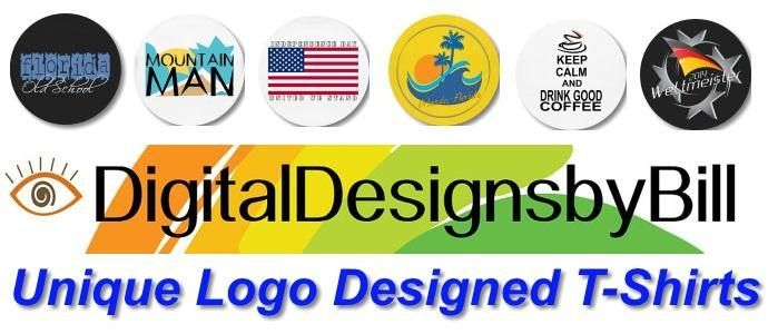 Digital Designs By Bill - Looking for a unique t-shirt design to liven up your wardrobe? We offer Unique Logo Designed T shirts and custom t-shirt design creation. All designs are done by me to your specifications and ideas. Check us out today!