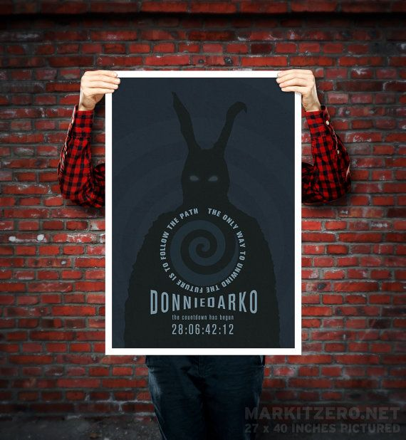 Donnie Darko Frank the Bunny Movie Poster by MarkItZeroNET on Etsy