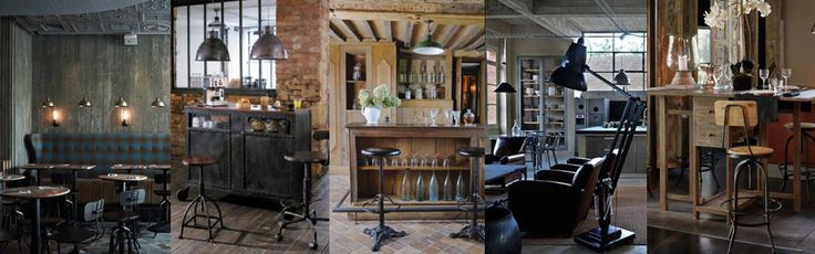 Broc and store mobilier industriel urbain et vintage - Decoration industrielle salon ...