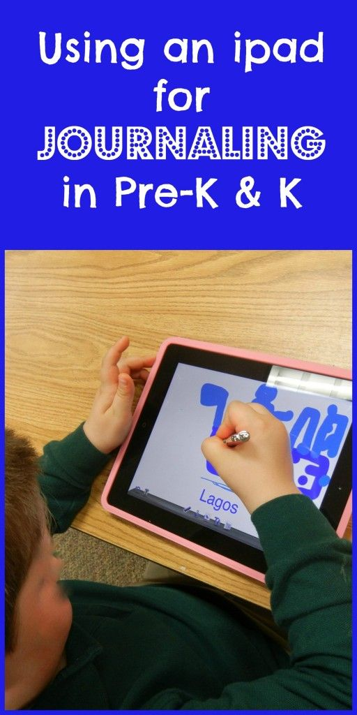 Journaling on the ipad with Pre-Schoolers & Kindergartners