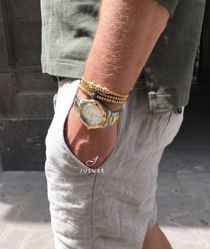 Morning wrist game from Marbella. New in: Juluxe 18kt Gold Black diamond ball bracelet. All bracelets available on Juluxe.com #juluxeworld #juluxe #tagheuer #gold #mensaccessories #mensfashion #marbella