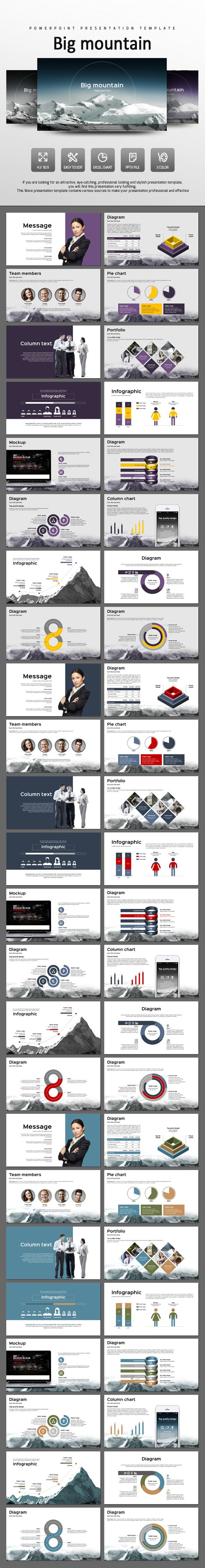Big Mountain - #PowerPoint #Templates Presentation Templates Download here: https://graphicriver.net/item/big-mountain/14442476?ref=alena994