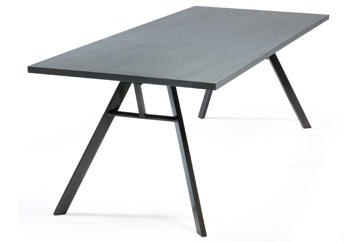 NANDO Table in cink w. black metal legs