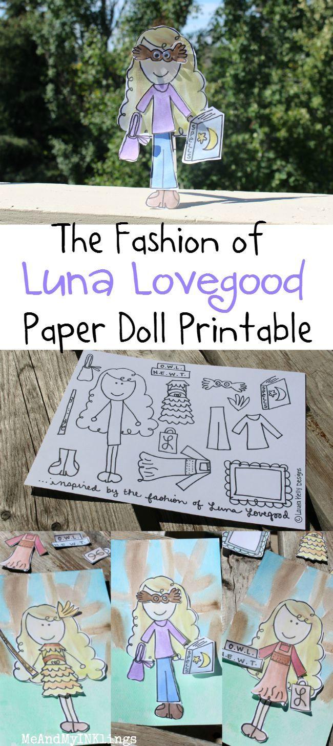 Paper Doll Fun with Luna Lovegood