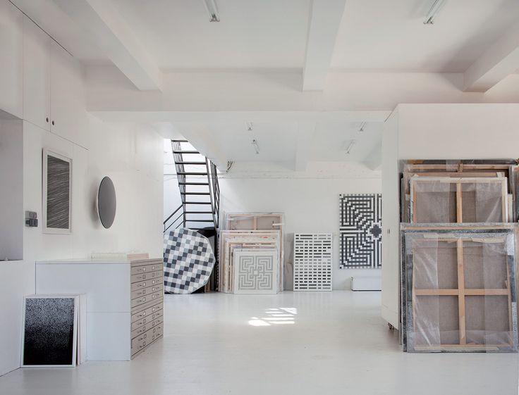 Atelier de L'Atlas qu'il partage avec l'artiste Tanc à Mairie des Lilas
