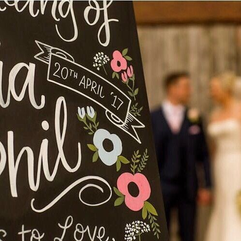 "42 Likes, 7 Comments - Lesser Than three (@lesser_than_three) on Instagram: ""Wedding season is upon us! Loving talking to brides to be and designing bespoke signage! Drop me a…"""