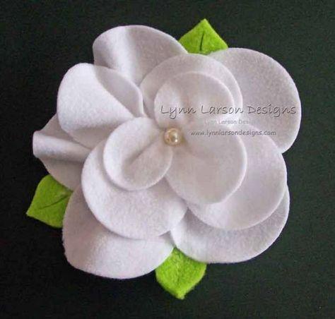 White Gardenia Flower Pin