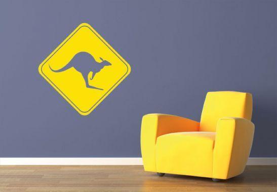 In Australien berühmt - das Känguru Schild   wall-art.de Online Shop