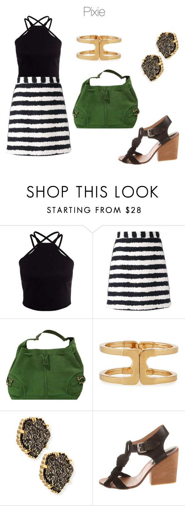 """""""Style taxonomy: Pixie"""" by skugge ❤ liked on Polyvore featuring MSGM, Burberry, Tory Burch, Kendra Scott and A Détacher"""