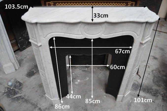 cheminée ancienne marbre