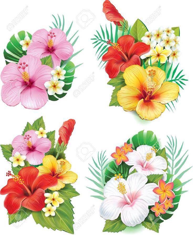 arreglos florales flor de hibisco - Buscar con Google
