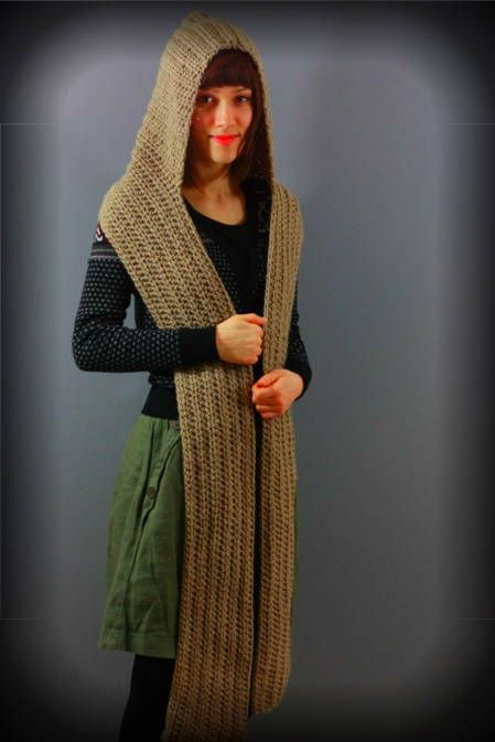 Free Crochet Pattern Hooded Scarf With Pockets Dancox For