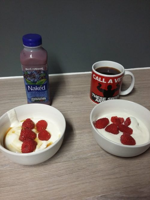 """""""I always have a healthy breakfast……yoghurt, berries, honey and a smoothie"""" I…"""