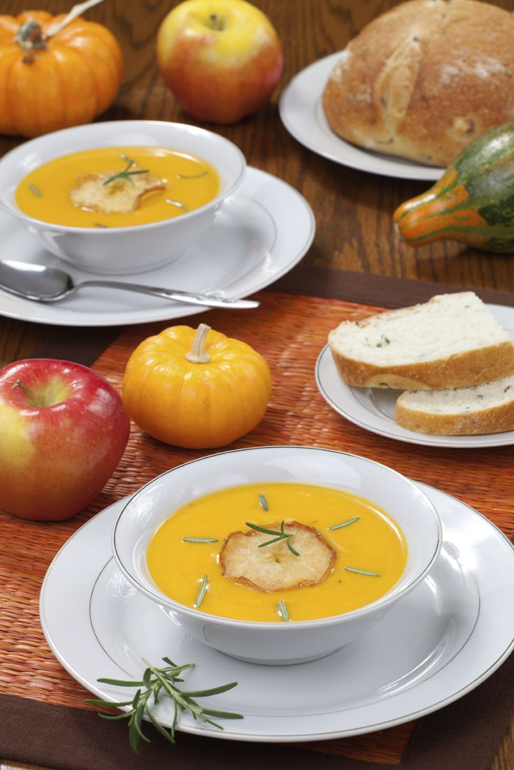 A delicious, and healthy soup to warm you up on those cold winter days. Nutrition: 80 calories, 1 g protein, 2 g fibre per serving.