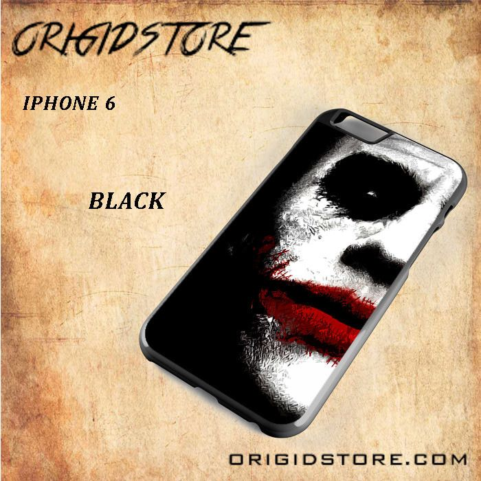 JOKER Half Face Snap on 2D Black and White Or 3D Suitable With Image For Iphone 6 Case
