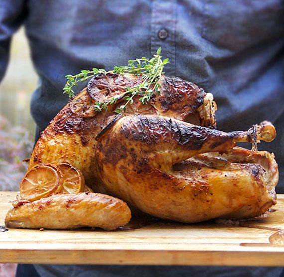 Spicy Yogurt Marinated Turkey - with yogurts natural tenderizing powers, this bird comes out tasty, tender and juicy with a flavorful, spiced-up gravy. But you have to use the right yogurt...