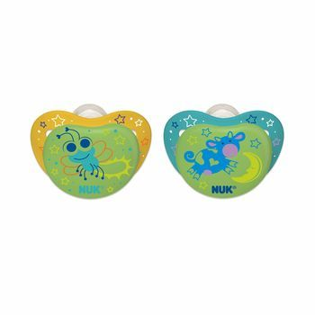 NUK® Orthodontic Pacifier, Night Glow, 0-6 Months, 2 pack,