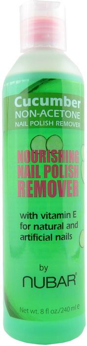 Large Cucumber Non-Acetone Nail Polish Remover (8 fl. oz. / 240 mL) by Nubar
