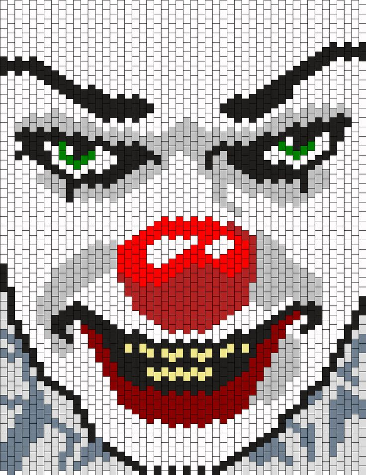Pennywise The Clown From It Panel Bead Pattern