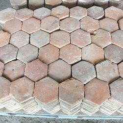 red marble hexagon tile | Reclaimed Thick French Terracotta - Lot of antique reclaimed French ...