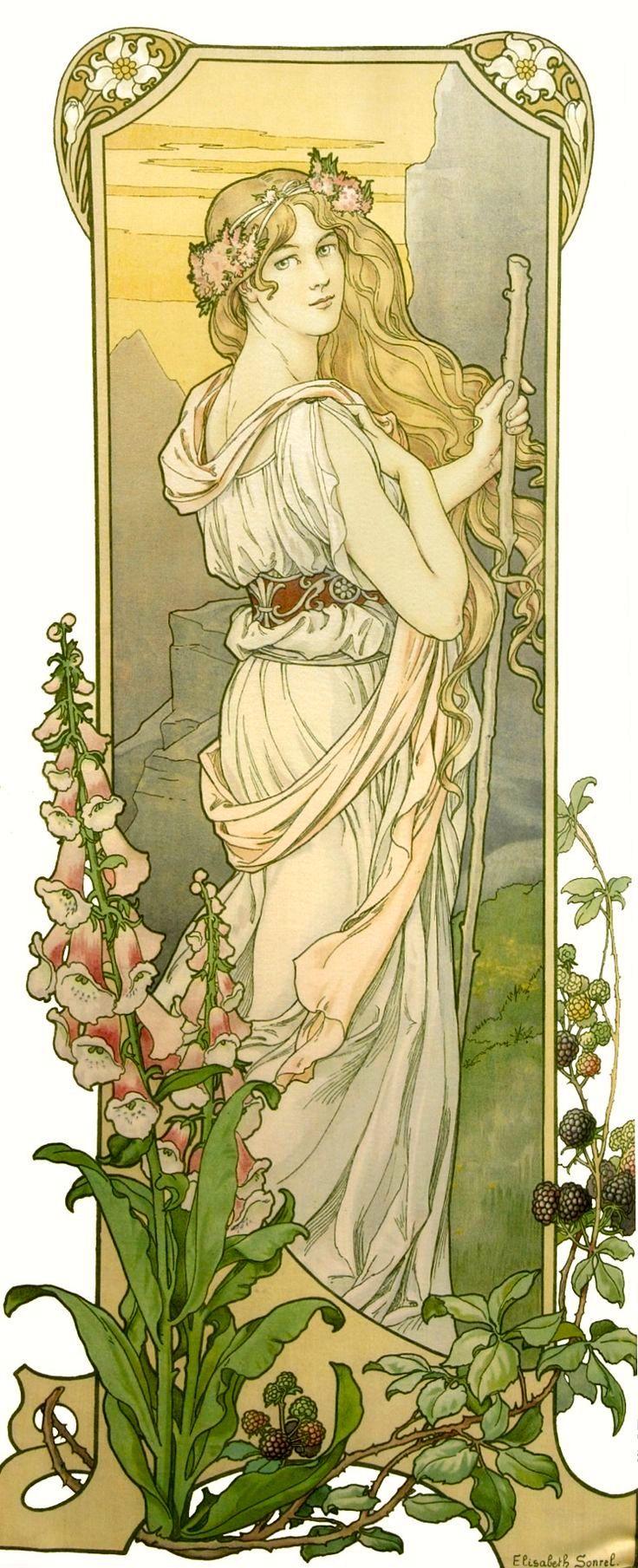 """Elisabeth Sonrel ~ (1874-1953)  """"Fleurs des Montagne"""""""