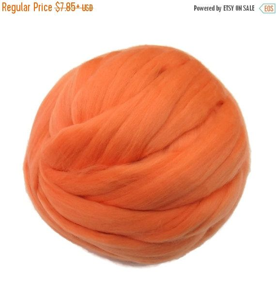 SALE 16 Micron Merino wool Roving Luxury Fiber for felters and spinner (Pale Apricot)