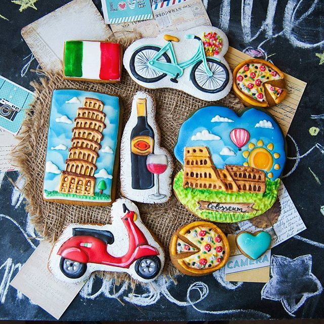 #пряник #пряникназаказ #имбирныйпряник #пряникназаказкиев #путишествие #ручнаяработа #handmade #travel #bonvoyage #cookie #italy #pizza #пицца #колезей #пизанскаябашня #киев #украина #мопед #велосипед #вино #италия