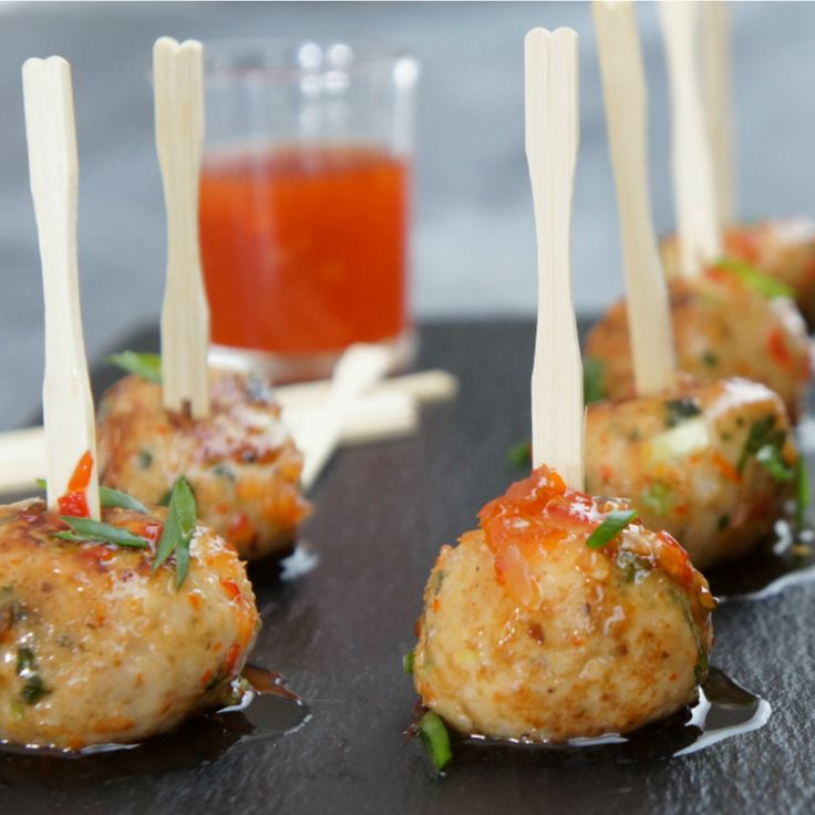 We've put together 9 chicken ball recipes to impress your guests, like these Asian Chicken Meatballs by Alfie