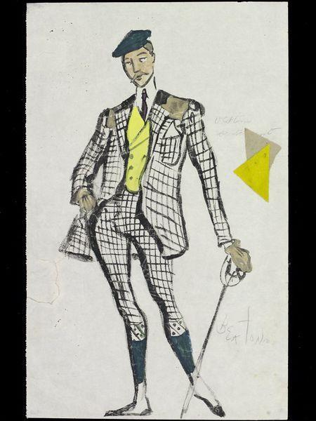 First Shoot. Cochran's Revue. Costume design by Cecil Beaton. 1935