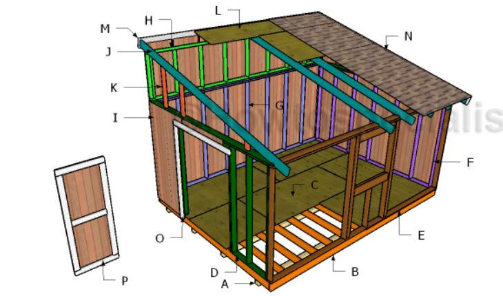 17 best images about outdoor shed plans free on pinterest for Lean to plans free