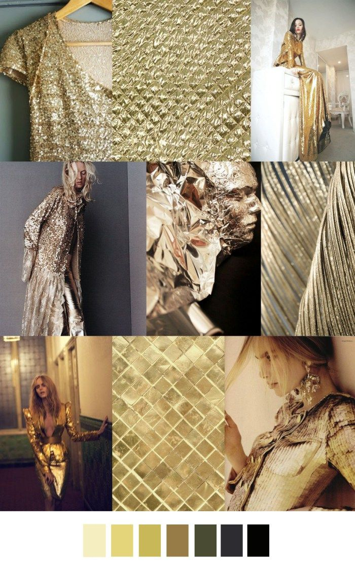 F/W 2017-2018 pattern & colors trends: GILDED GLAMOUR