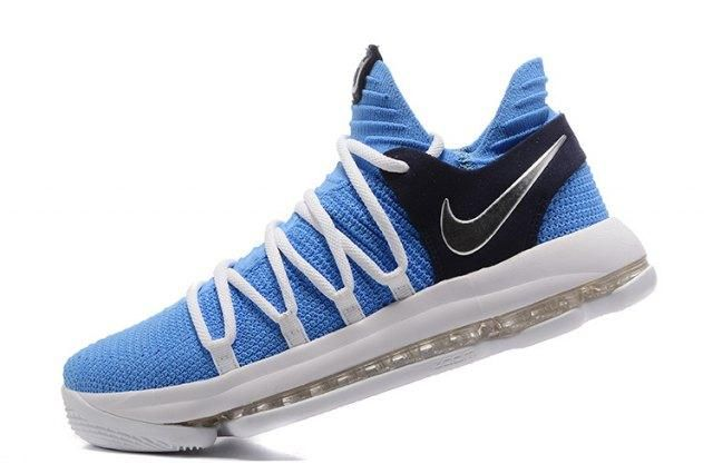 Dazzling Nike Zoom KD 10 EP Blue White Black Kevin Durant Men's Basketball Shoes Sneakers