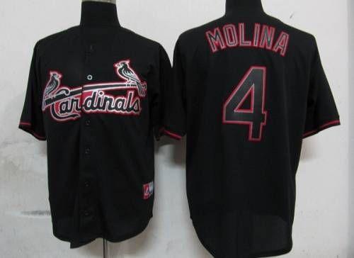 b51935f1dfa ... White Throwback MLB Cardinals 4 Yadier Molina Black Fashion Embroidered  MLB Jersey. Yadier MolinaSports JerseysSt Louis .