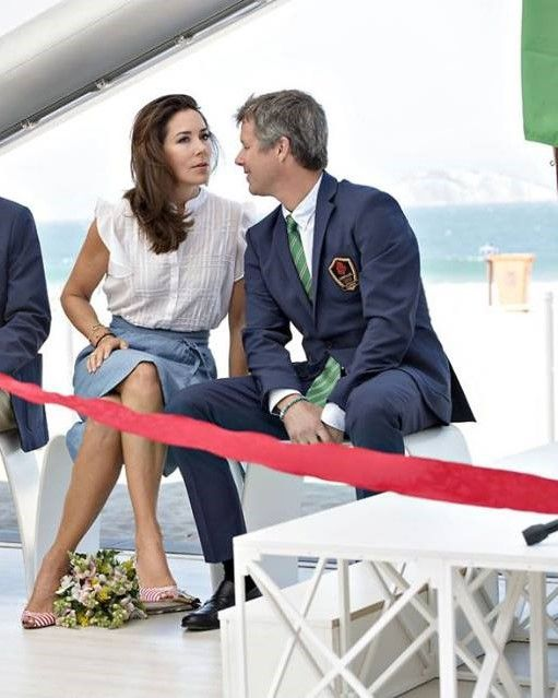 Crown Princess Mary and Crown Prince Frederik of Denmark attends the official opening of the Danish Pavilion in Rio for the upcoming Olympics 2016