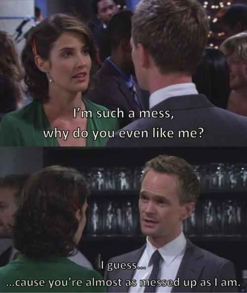 """When Robin and Barney got back together. 