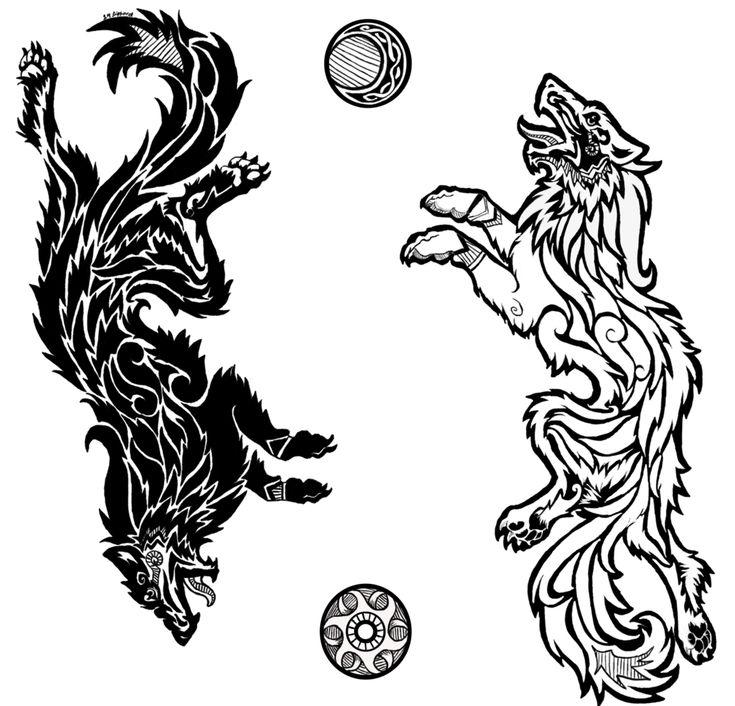 les 25 meilleures id es de la cat gorie fenrir tattoo sur pinterest art viking vegvisir et. Black Bedroom Furniture Sets. Home Design Ideas