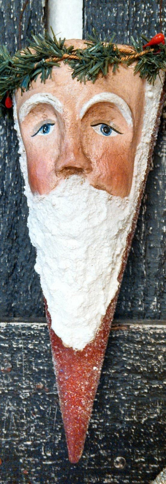 Paper clay Santa cone
