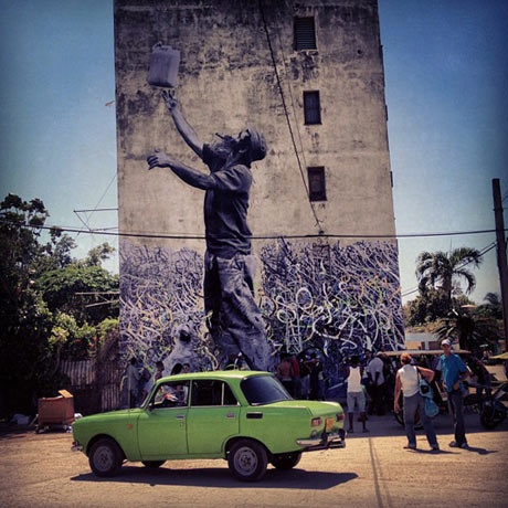 Wrinkles of the City: Dope JR & José Parla Murals in Havana on www.urbanartcore.eu