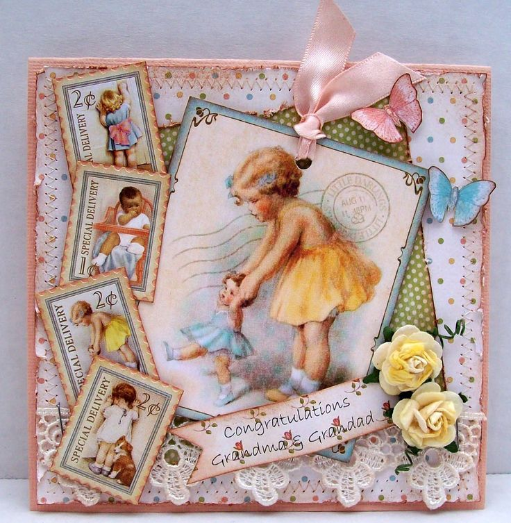 Beautiful Little Darlings card #graphic45