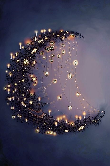 Immagine di moon, light, and night
