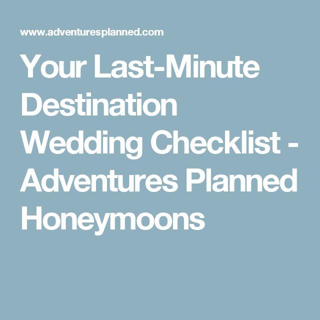Best  Destination Wedding Checklist Ideas On