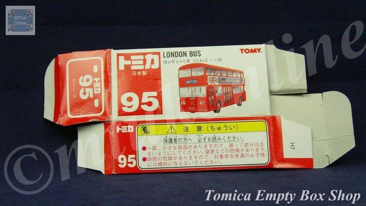 TOMICA 095C LONDON BUS | 1/130 | ORIGINAL BOX ONLY | ST5 1995 JAPAN