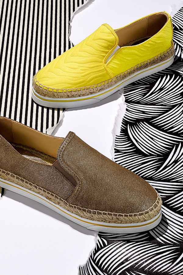 See the world from a different point of view with these espadrille sneakers by Jimmy Choo.