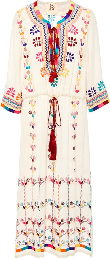 Figue Heidi Embroidered Midi Dress