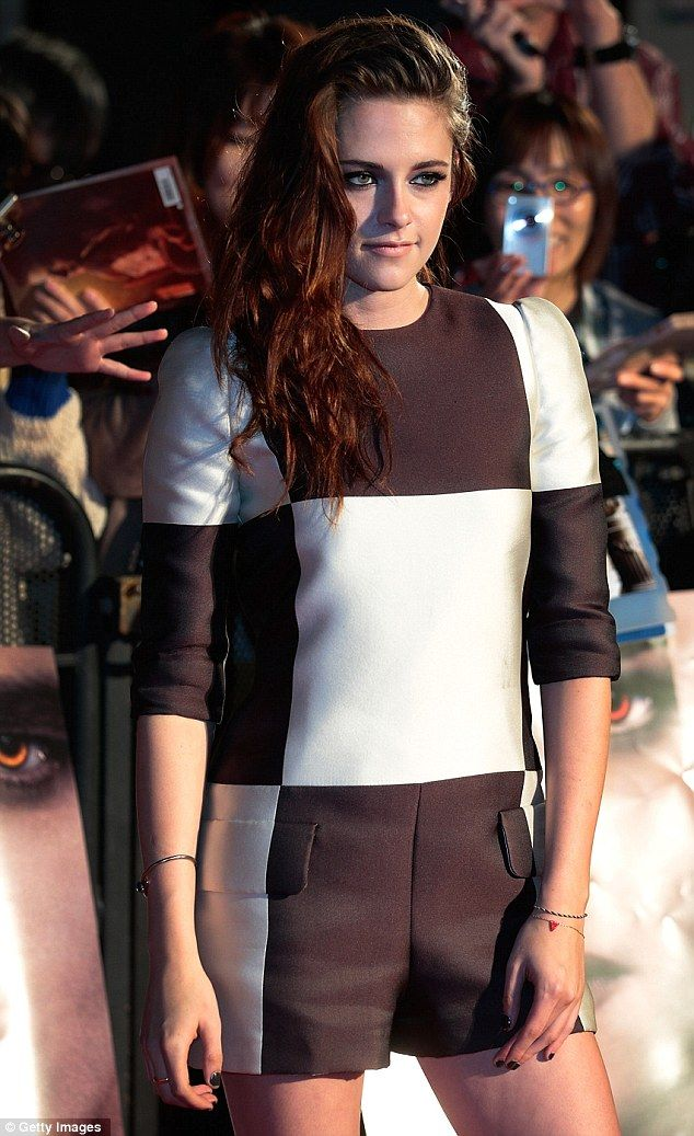 Kristen Stewart looks happy to be promoting the final film of the franchise that shot her to stardom
