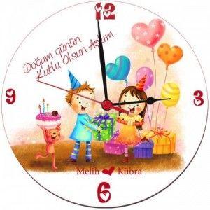 Sevgiliye özel doğum günü duvar saati