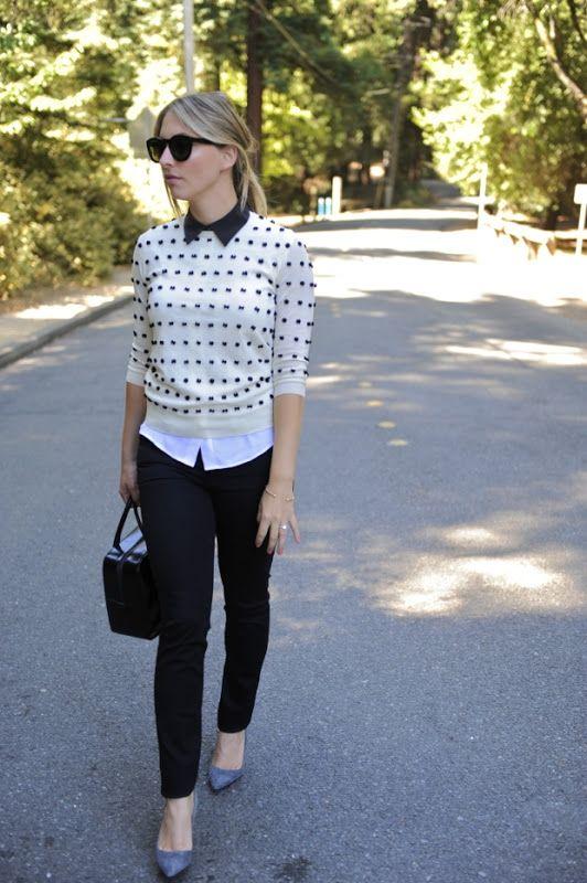 classy preppy college fashion polka dots