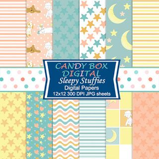 What's in the Candy Box: Sleepy Stuffies Stuffed Toy Bedtime Digital Papers...