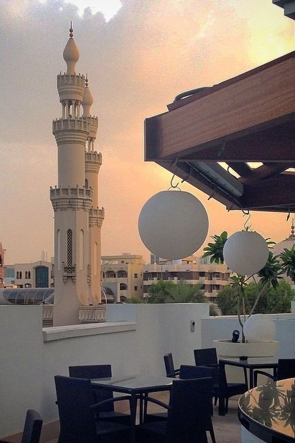 """After running an errand in 102 degree heat... The sunset is more welcomed than one can ever imagine."" - Jen Kedinger on Instagram.  {Hyatt Place Dubai/Al Rigga}"
