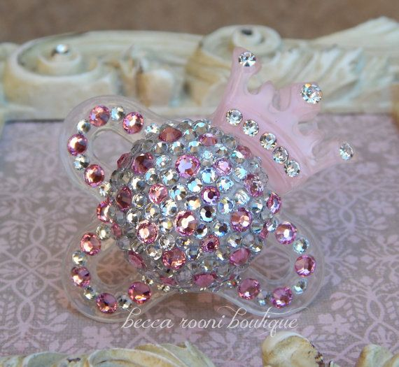 Bling Rhinestone Pacifier Paci Binky MAM Baby Bling Pacifier Novelty Item on Etsy, $26.00